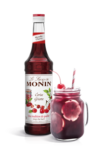 Monin Morello Cherry (PET - Plastic) Syrup 1l
