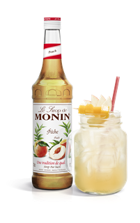 Monin Peach Syrup 1l